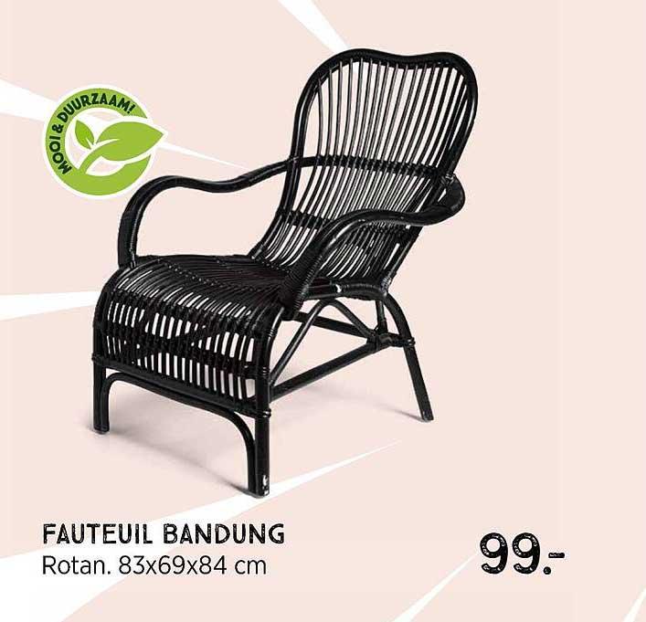 Xenos Fauteuil Bandung Rotan 83x69x84 Cm