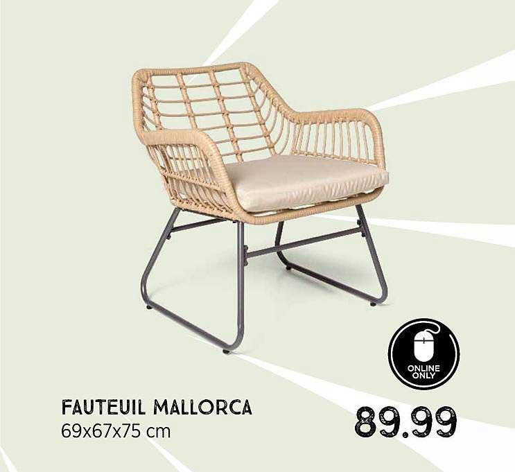 Xenos Fauteuil Mallorca 69x67x75 Cm