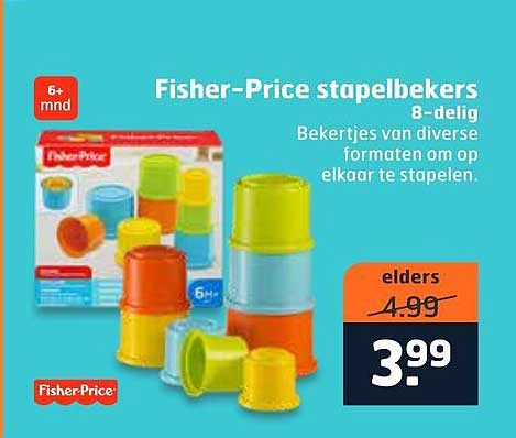 Trekpleister Fisher-Price Stapelbekers 8-Delig