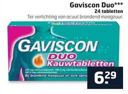Trekpleister Gaviscon Duo 24 Tabletten