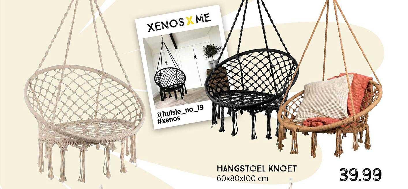 Xenos Hangstoel Knoet 60x80x100 Cm