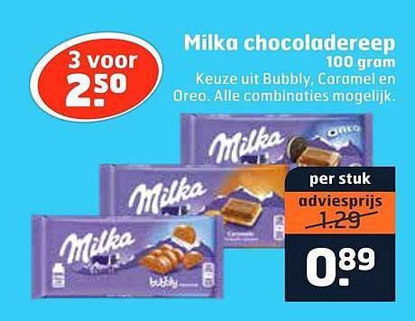 Trekpleister Milka Chocoladereep 100 Gram