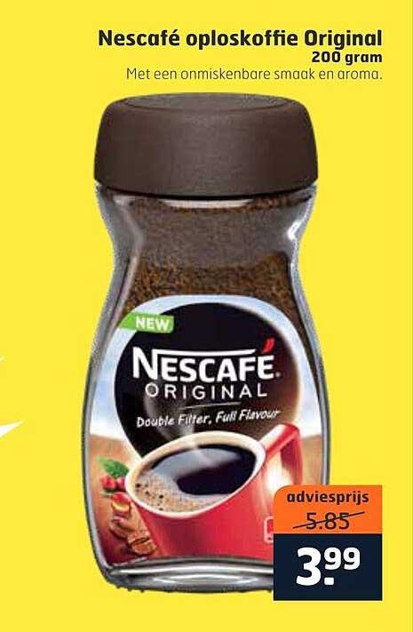 Trekpleister Nescafé Oploskoffie Original 200 Gram