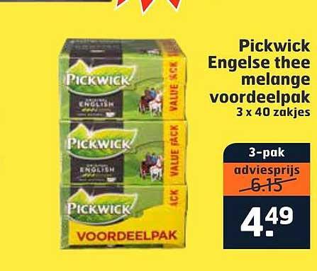 Trekpleister Pickwick Engelse Thee Melange Voordeelpak