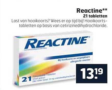 Trekpleister Reactine 21 Tabletten