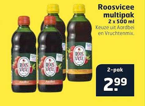 Trekpleister Roosvicee Multipak 2 X 500 Ml