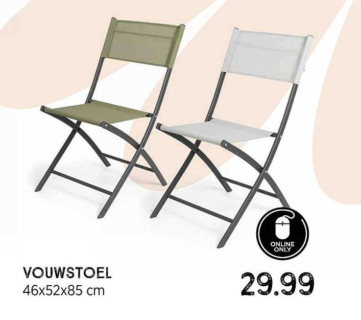 Xenos Vouwstoel 46x52x85 Cm