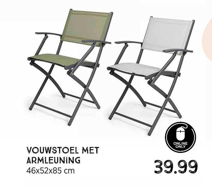 Xenos Vouwstoel Met Armleuning 46x52x85 Cm