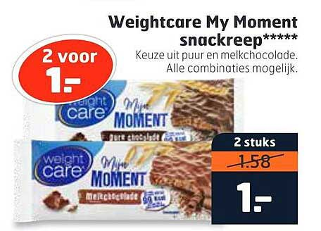 Trekpleister Weightcare My Moment Snackreep
