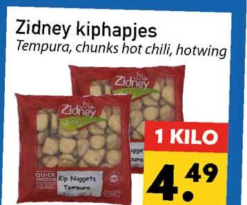 Tanger Markt Zidney Kiphapjes Tempura, Chunks Hot Chili, Hotwing