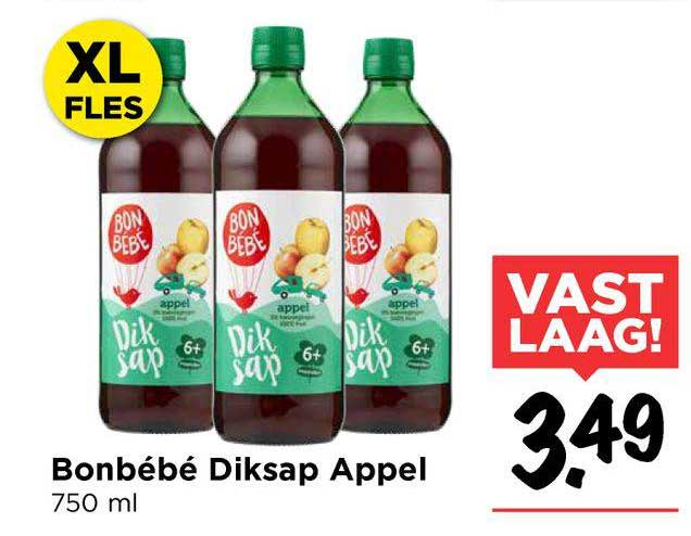 Vomar Bonbébé Bio Appel 750 Ml XL Fles