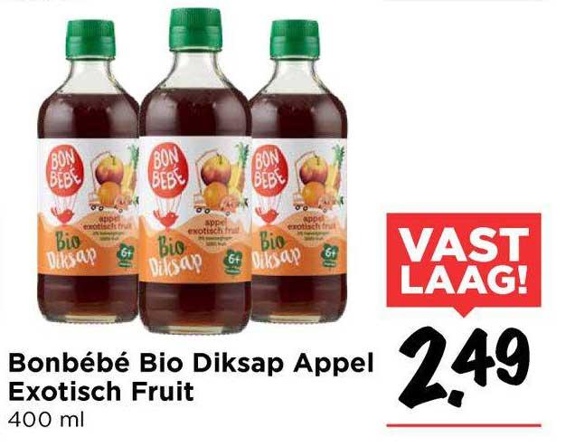Vomar Bonbébé Bio Diksap Appel Exotisch Fruit