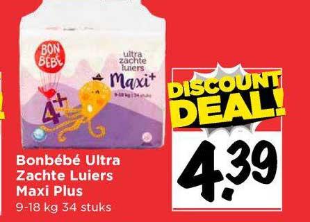 Vomar Bonbébé Ultra Zachte Luiers Maxi Plus