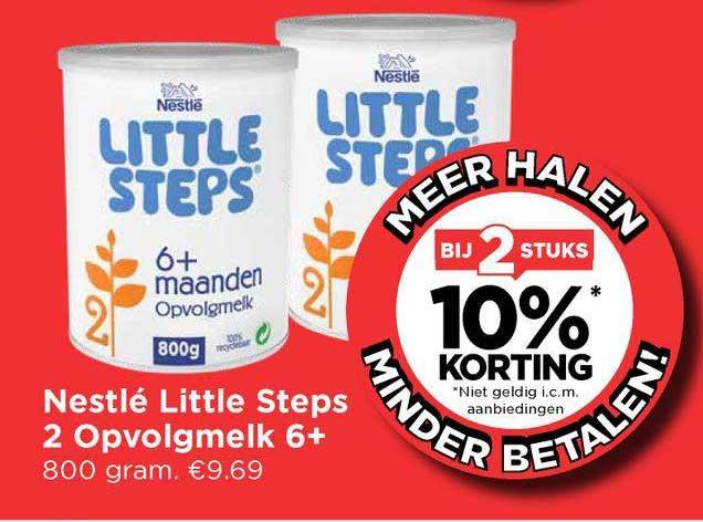 Vomar Nestlé Little Steps 2 Opvolgmelk 6+ Bij 2 Stuks 10% Korting