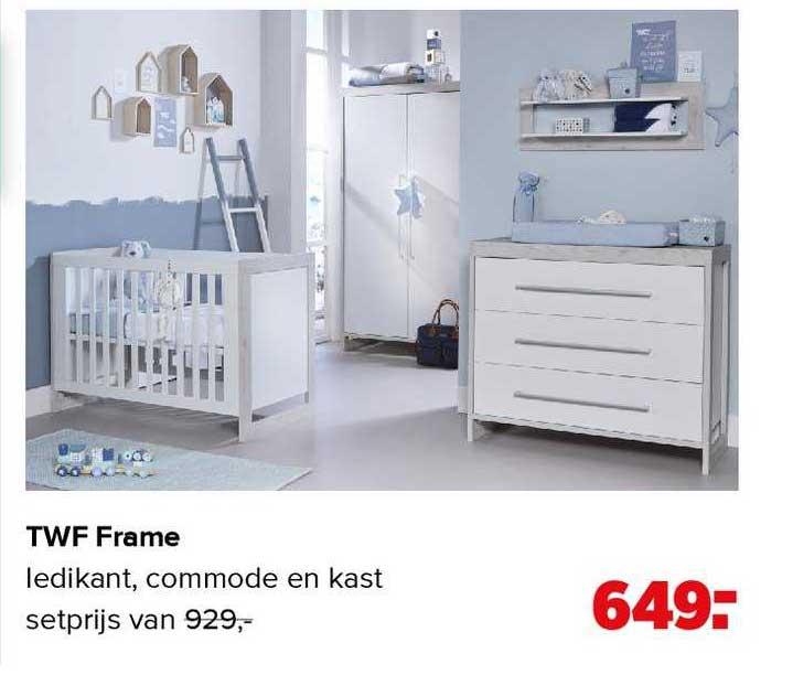 Baby-Dump TWF Frame Babykamer Ledikant, Commode En Kast