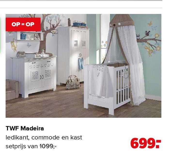 Baby-Dump TWF Madeira Babykamer Ledikant, Commode En Kast