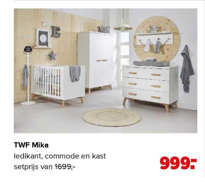 Baby-Dump TWF Mika Babykamer Ledikant, Commode En Kast
