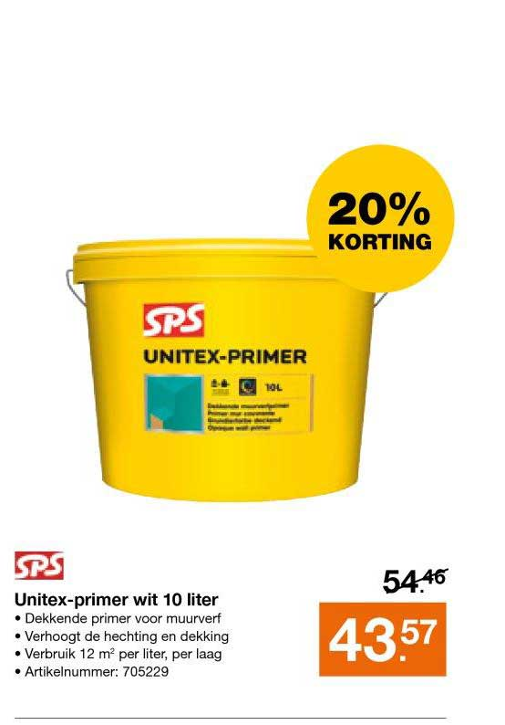 Bouwmaat Unitex Primer Wit 10 Liter: 20% Korting