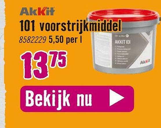 Hornbach Akkit 101 Voorstrijkmiddel