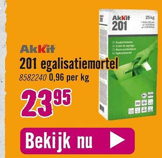 Hornbach Akkit 201 Egalisatiemortel