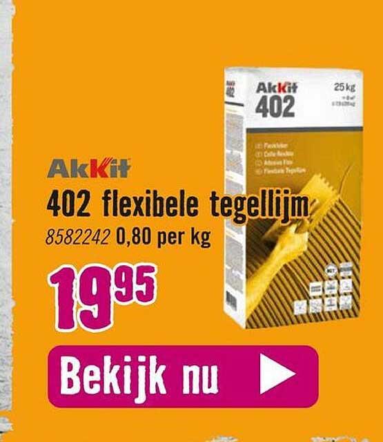 Hornbach Akkit 402 Flexibele Tegellijm