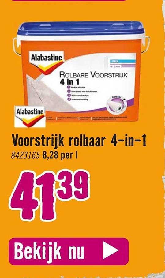 Hornbach Alabastine Voorstrijk Rolbaar 4-in-1