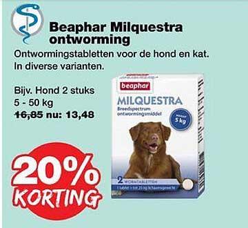 Jumper Beaphar Milquestra Ontworming 20% Korting