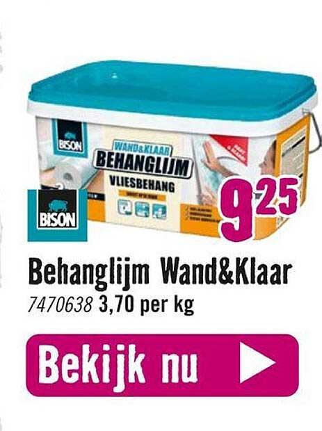 Hornbach Bison Behanglijm Wand&Klaar