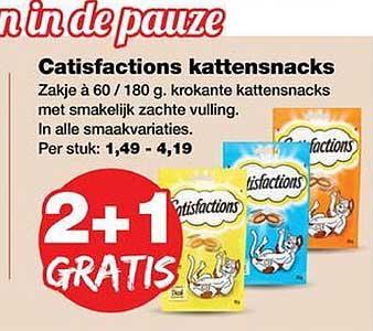 Jumper Catisfactions Kattensnacks 2+1 Gratis