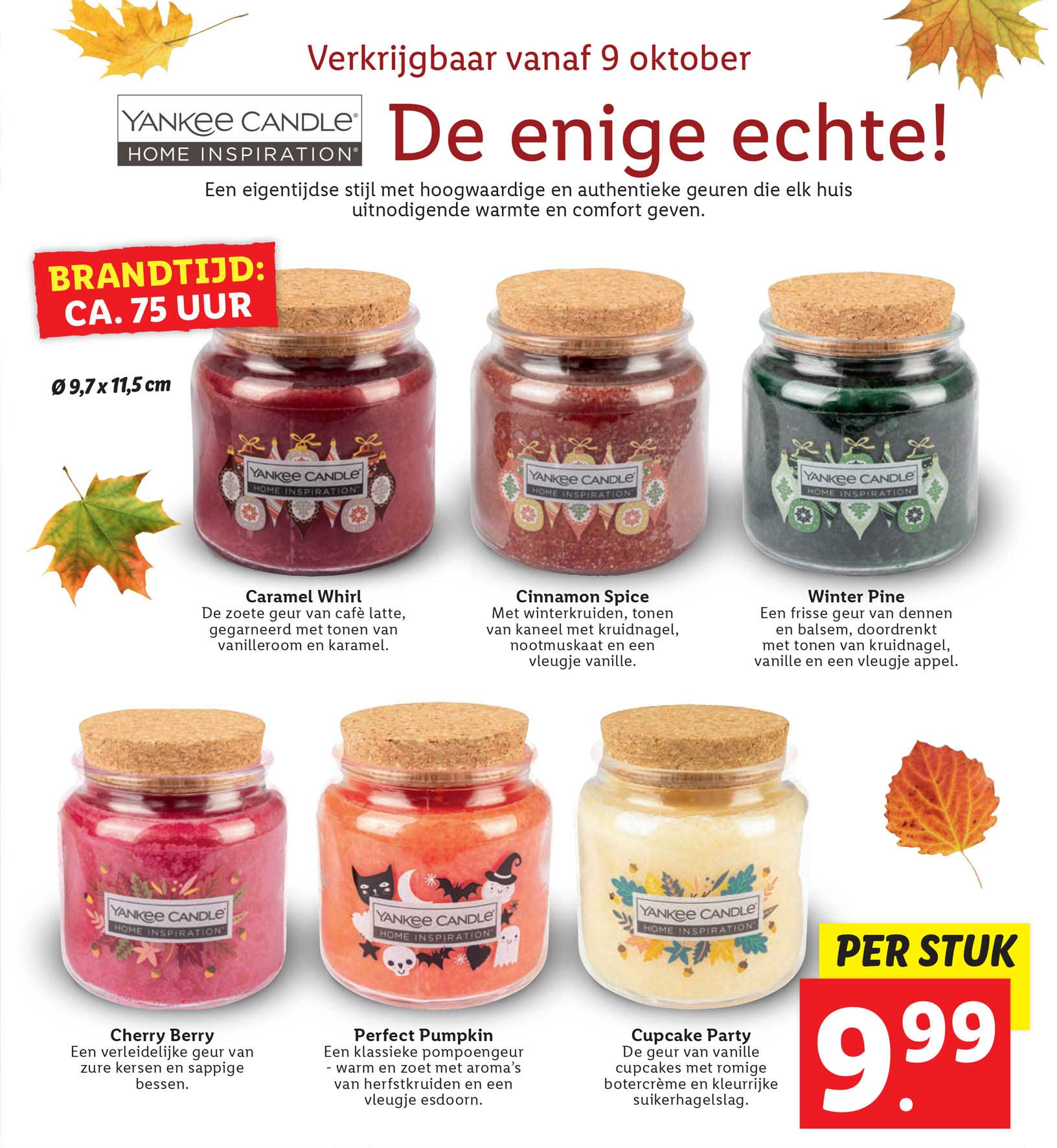 Lidl Yankee Candle Caramel Whirl, Cinnamon Spice, Winter Pine, Cherry Berry, Perfect Pumpkin Of Cupcake Party