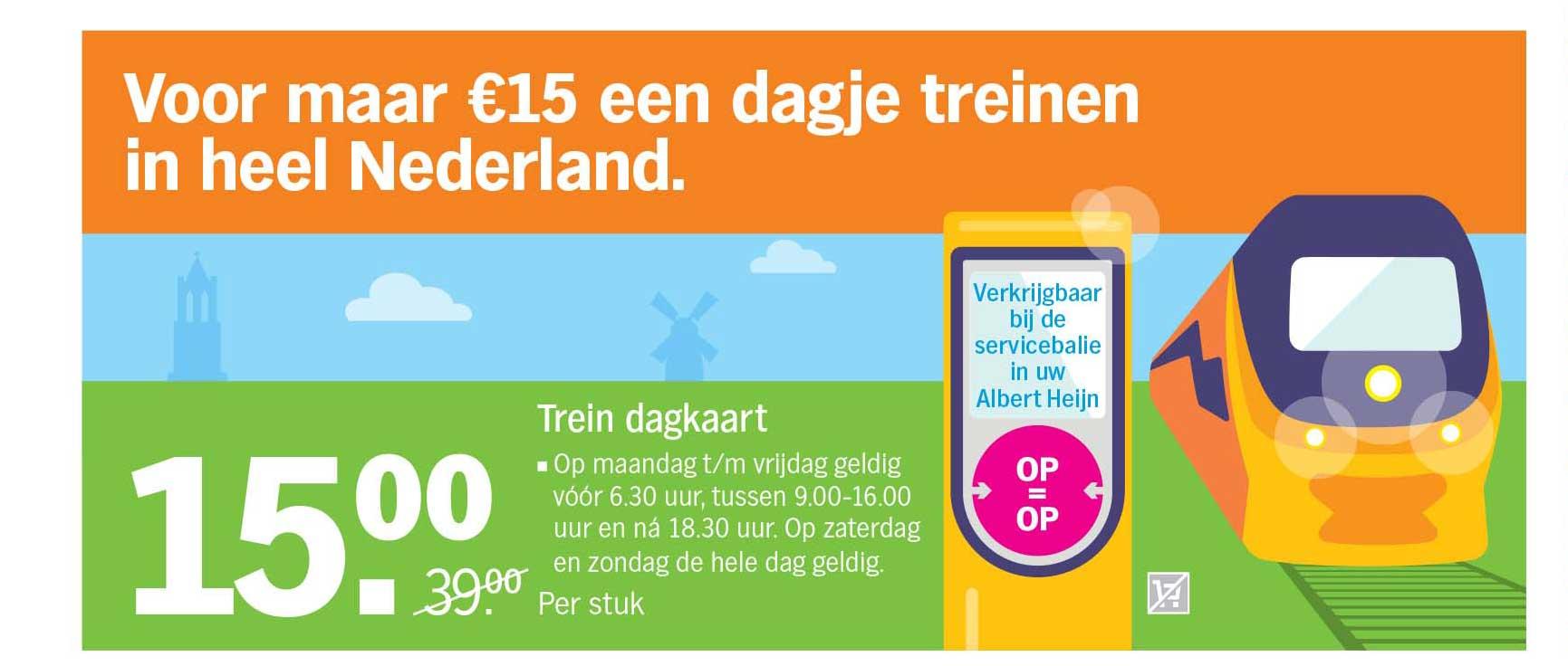 Albert Heijn Voor Maar €15,- Een Dagje Treinen In Heel Nederland