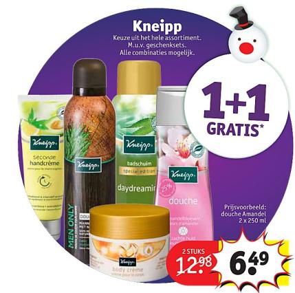 Kruidvat Kneipp: 1+1 Gratis