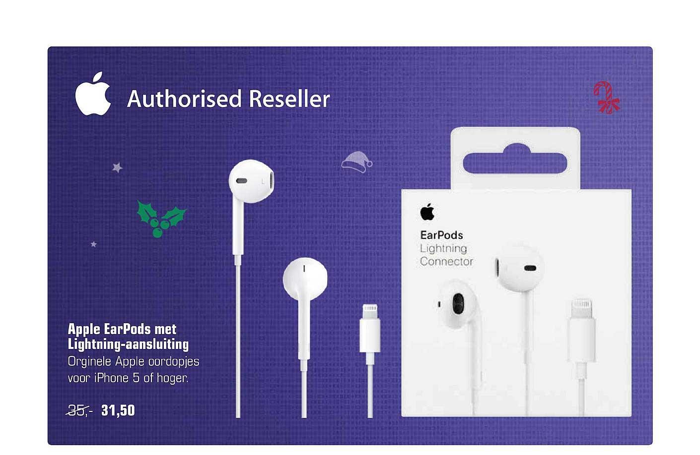 Primera Apple Earpods Met Lightning Aansluiting