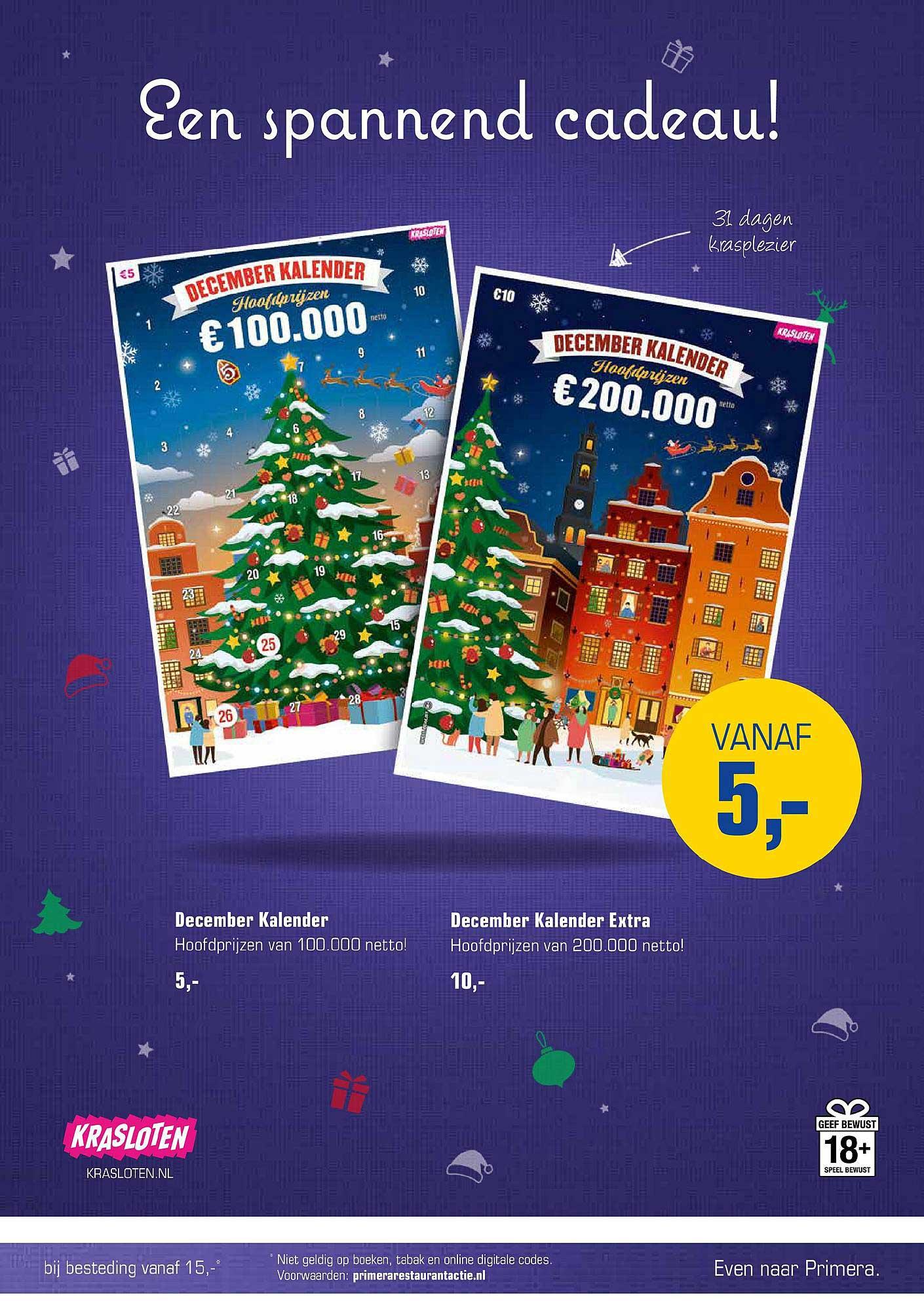 Primera December Kalender