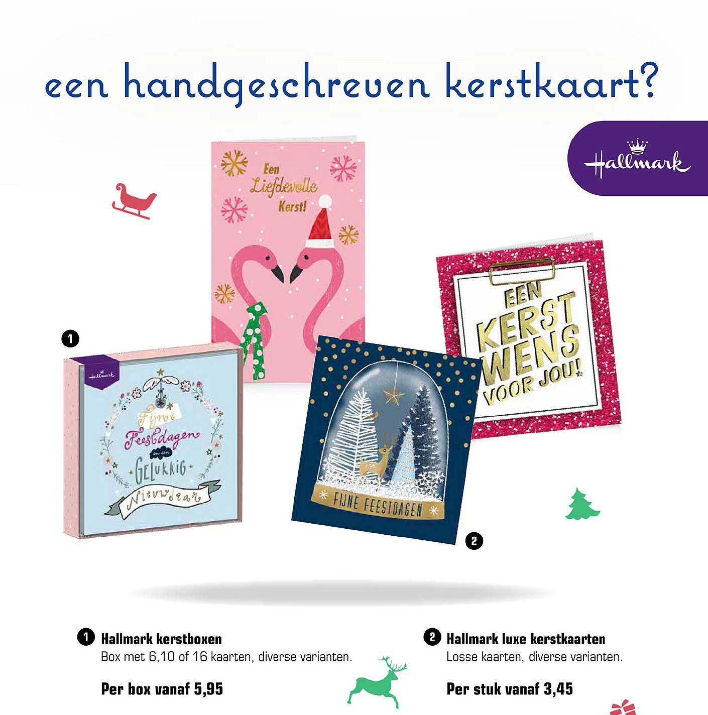 Primera Hallmark Kerstboxen En Hallmark Luxe Kerstkaarten