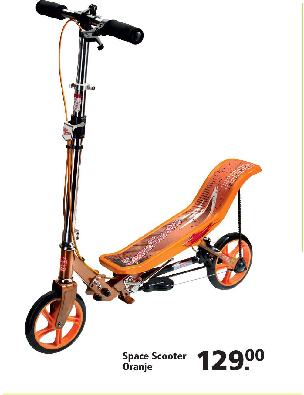 Intertoys Space Scooter Oranje