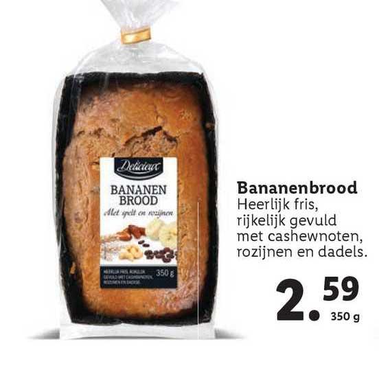 Lidl Delicieux Bananenbrood