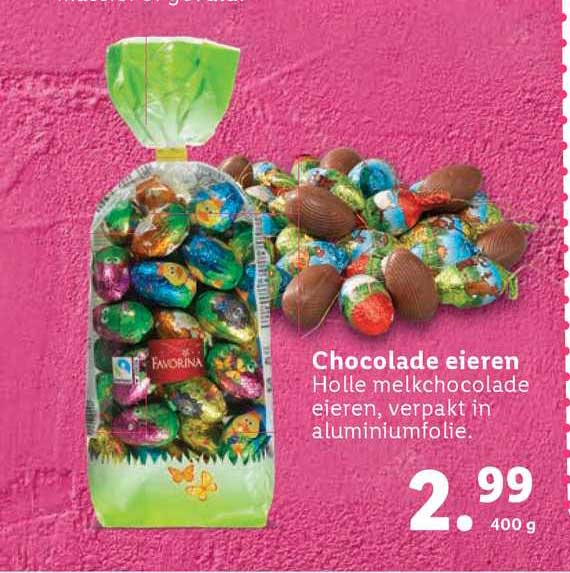 Lidl Favorina Chocolade Eieren
