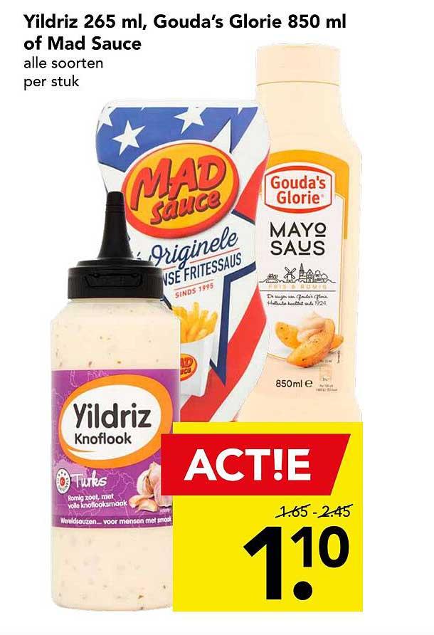 DEEN Yildriz 265 Ml, Gouda's Glorie 850 Ml Of Mad Sauce