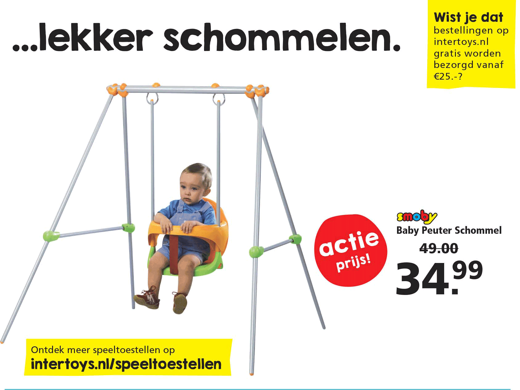 Intertoys Smoby Baby Peuter Schommel