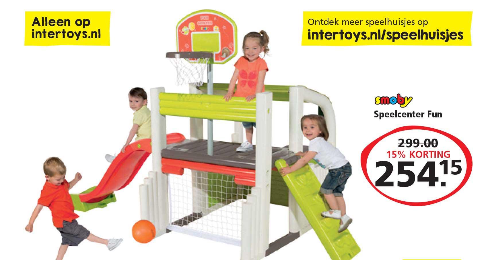 Intertoys Smoby Speelcenter Fun: 15% Korting