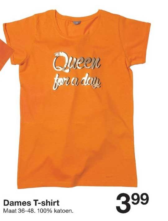 Zeeman Dames T Shirt Oranje