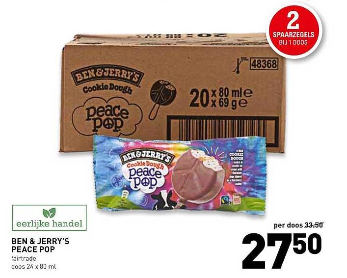 De Kweker Ben & Jerry's Peace Pop Fairtrade