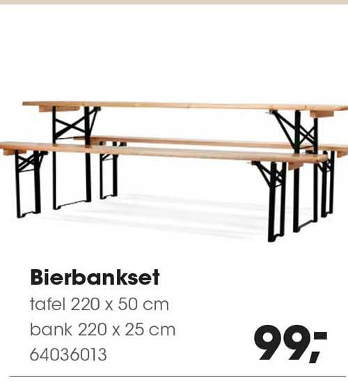 HANOS Bierbankset : Tafel 220 X 50 Cm En Bank 220 X 25 Cm