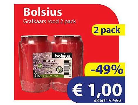 Die Grenze Bolsius Grafkaars Rood 2 Pack