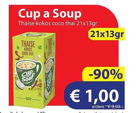 Die Grenze Cup A Soup Thaise Kokos Coco Thaï 21x13gr