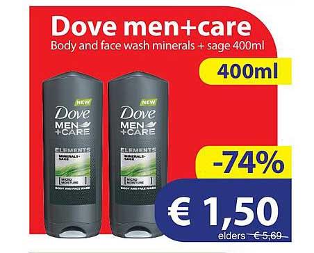 Die Grenze Dove Men+Care Body And Face Wash Minerals + Sage 400 Ml