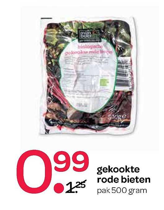 Spar Gekookte Rode Bieten 500 Gram