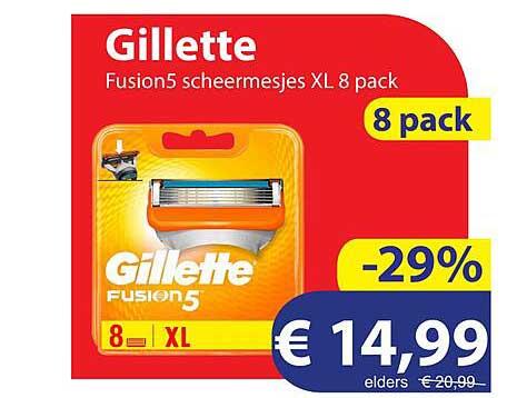 Die Grenze Gillette Fusion5 Scheermesjes XL 8 Pack