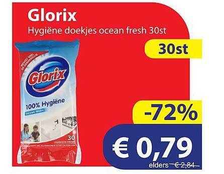Die Grenze Glorix Hygiëne Doekjes Ocean Fresh 30st